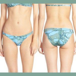 NWT $97 KORE SWIM 'Maia' Bikini Bottoms Blue Green